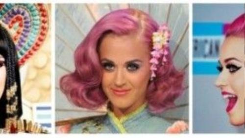 """Đường nét khuôn mặt rất xinh đẹp, thế nhưng, người đẹp vẫn chưa """"thoả mãn"""" những gì mình có. Mỗi lần góp mặt tại một sự kiện, chương trình hay MV, Katy Perry đều mang đến những màn """"thoát xác"""" ngoạn mục."""