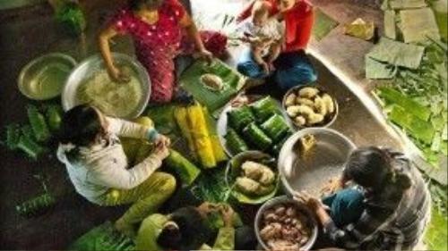 Ngày Tết, bánh chưng và bánh tét luôncó mặttrong nhà các gia đình Việt.