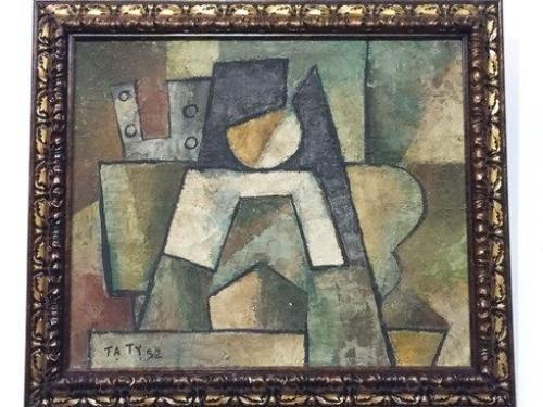 ... và bức tranh được đề tên tác giả Tạ Tỵ trong triển lãm