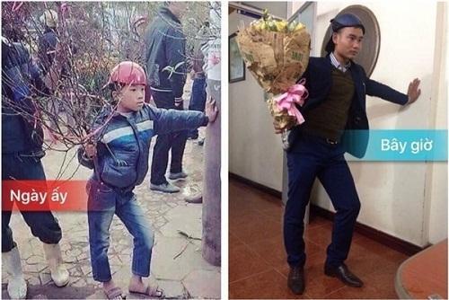Ngày ấy em bán đào nhưng bây giờ em chuyển nghề qua bán hoa nhé.