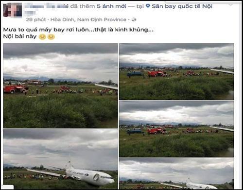 Tin đồn máy bay rơi ở Nội bài hồi tháng 7 năm nay.