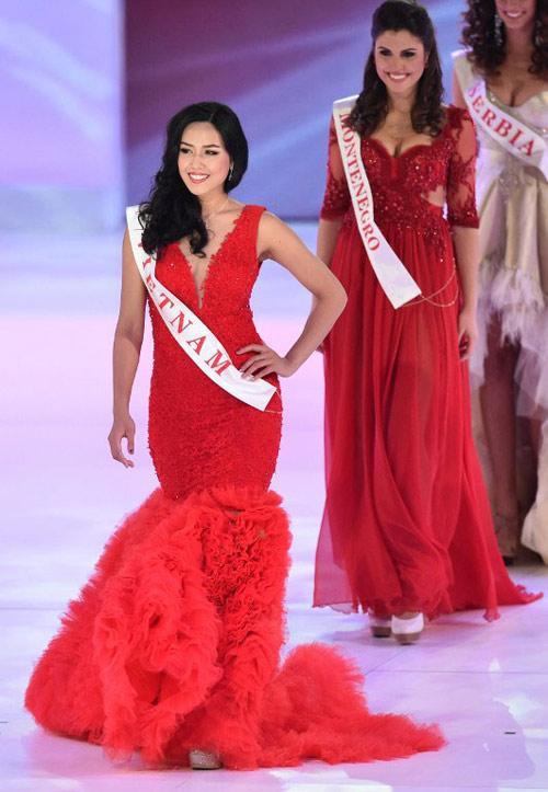 Nguyễn Loan thi Miss World 2014 và từng lọt top 25 chung cuộc.