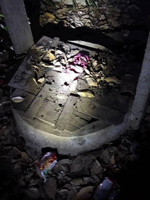 Hiện trường giếng nước bé gái bị Nguyễn Văn Hưng ném xuống.