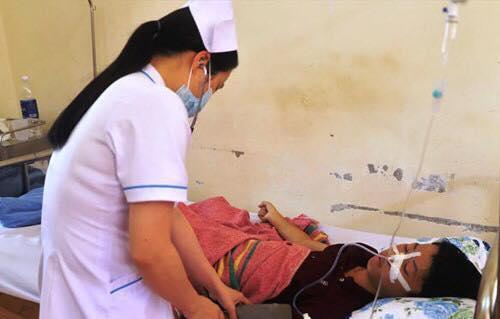 Trung đang được điều trị tại bệnh viện.
