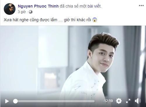 Noo Phước Thịnh đăng tải đoạn clip trên trang cá nhân cùng dòng trạng thái hài hước.