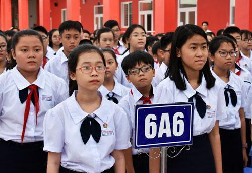 Học sinh lớp 6 trường Trung học Thực hành Sài Gòn. Ảnh: Mạnh Tùng.