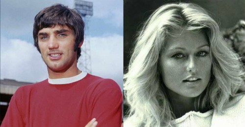 """Mary Stavin từng có thời gian qua lại với huyền thoại nổi tiếng """"lắm tài nhiều tật"""" George Best của Man Utd."""