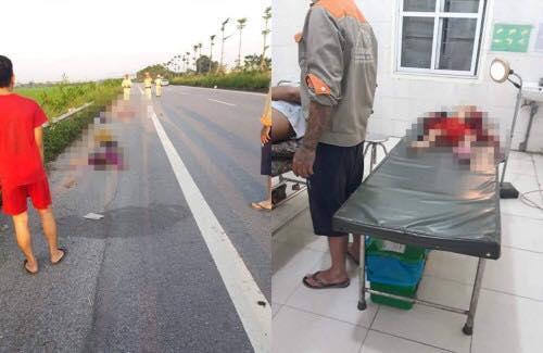 Hiện trường vụ tai nạn trên quốc lộ, mẹ cùng 2 con nhỏ tử vong