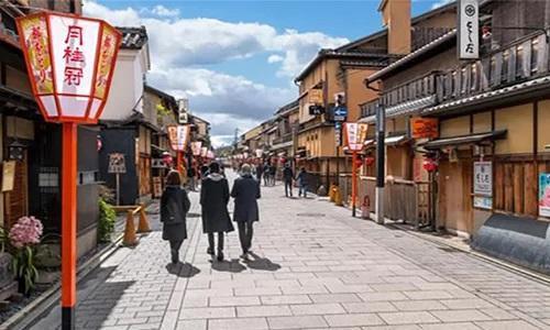 Một con phố ở Nhật Bản. Ảnh: Ian Dagnall/Alamy.