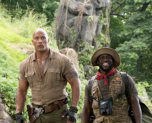 The Rock và Kevin trong Jumanji: Welcome to the Jungle