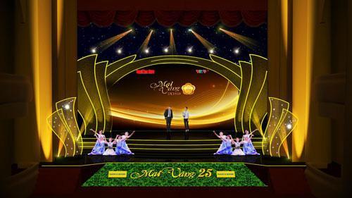 Sân khấu trao giải Mai Vàng lần thứ 25.