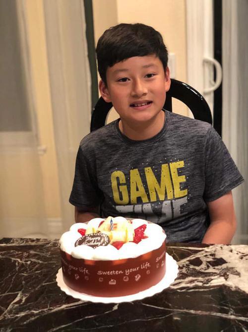 Bảo Nam vừa đón sinh nhật 12 tuổi vào ngày 14/2.