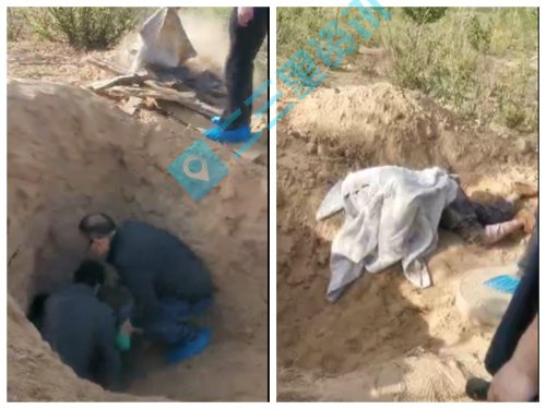 Người phụ nữ may mắn vẫn còn sống sau khi được giải cứu.