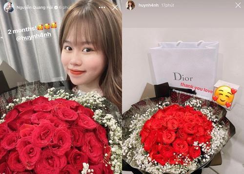 Quang Hải và Huỳnh Anh kỷ niệm 2 tháng yêu nhau