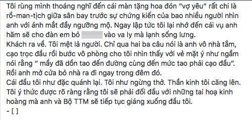 Nguyên văn dòng trạng thái mới nhất của nghệ sĩ Xuân Hương.