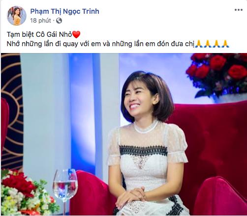 Diễn viên Ngọc Trinh thương xót Mai Phương