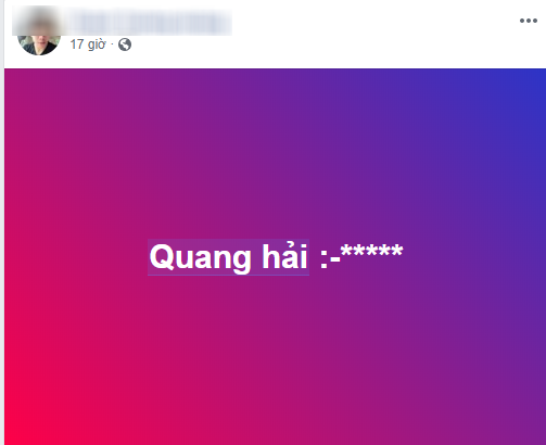 Cái tên Quang Hải được fan nhắc đến khá nhiều sau trận chiều qua.