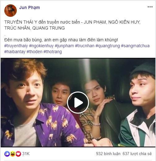 Đoạn clip được Jun Phạm đăng tải trên trang cá nhân.