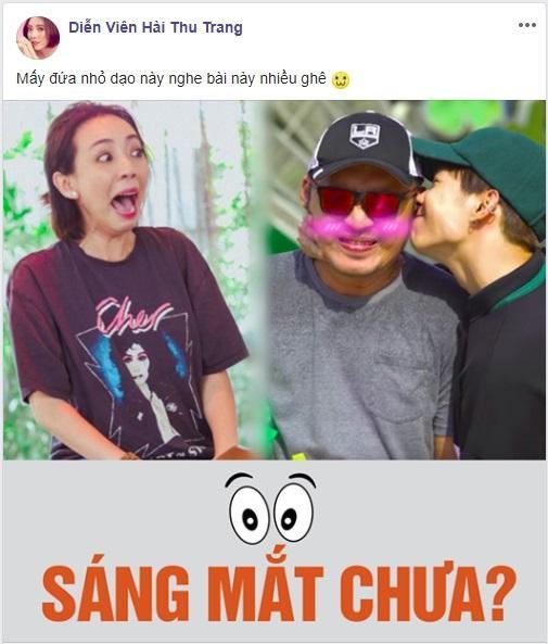 """Hình ảnh cùng dòng trạng thái không thể """"lầy"""" hơn của diễn viên Thu Trang."""