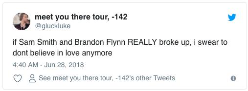 """""""Nếu Sam Smith và Brandon Flynn chia tay, tôi thề sẽ không tin vào tình yêu nữa"""""""