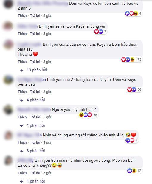 Hàng nghìn lời bình luận của fan dành lời động viên cho Jack và K-ICM.