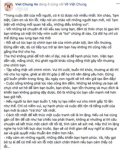 Nguyên văn bài đăng của NTK Võ Việt Chung.