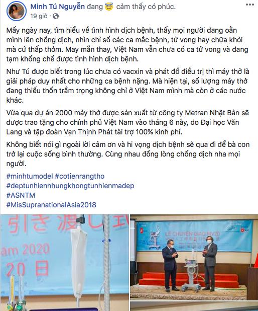 Chia sẻ của Minh Tú về dự án máy thở MV20