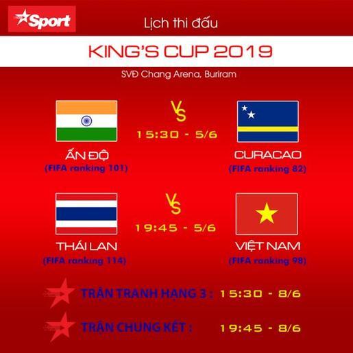 Lịch thi đấu King'Cup 2019.