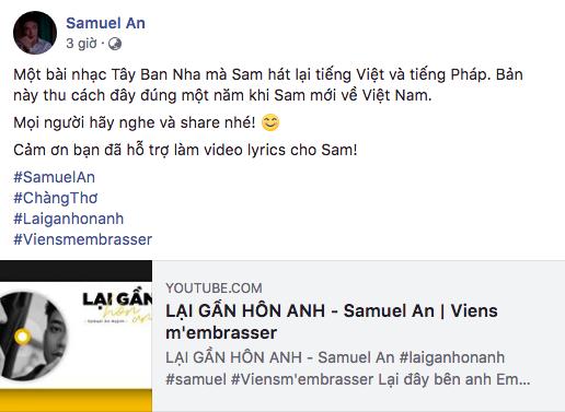 Theo chia sẻ của hotboy team Noo, ca khúc Lại gần hôn anh đã được thu âm cách đây một năm trước, khi anh chàng mới về Việt Nam.