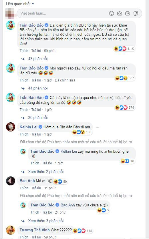 Phản ứng của đồng nghiệp khi hay tin BB Trần làm ngực.