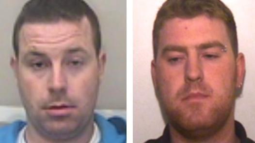 Hai nghi phạm Ronan (phải) và Christopher Hughes. Ảnh: PA