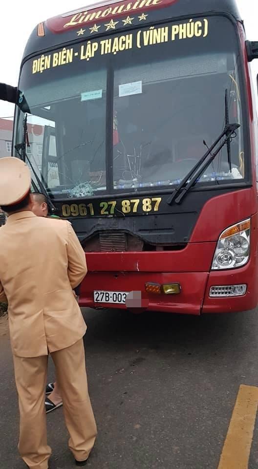 Chiếc xe khách gây tai nạn.