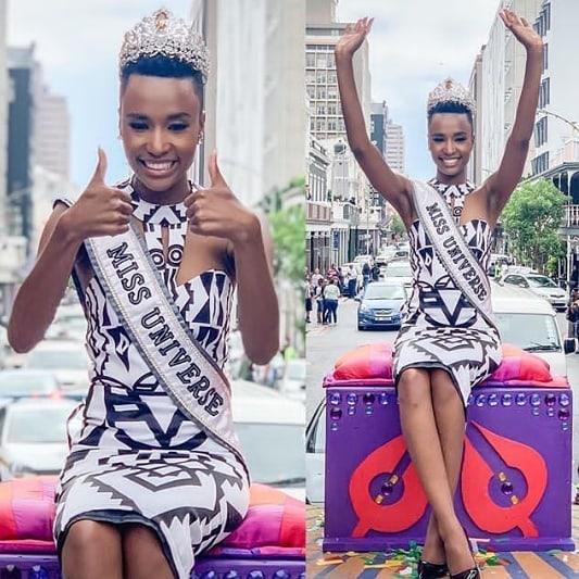 Mặc bikini trắng, Miss Universe 2019 như ngọc đen đẹp sững sờ, fan choáng váng với body ảnh 13