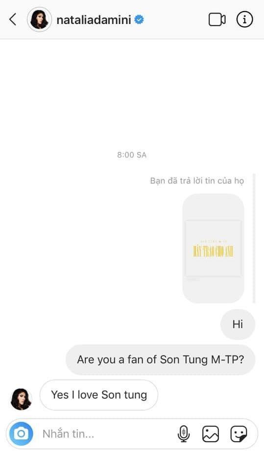 Cô thẳng thắn chia sẻ với fan Việt về việc yêu thích Sơn Tùng.