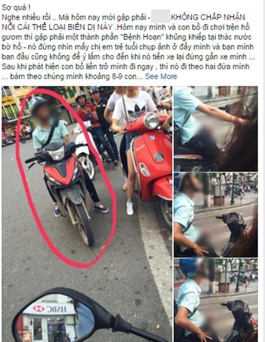 Nhiều người đi đường bắt gặp kẻ biến thái ở giữa đường và đăng đàn lên mạng xã hội để lên án. Ảnh: Facebook.