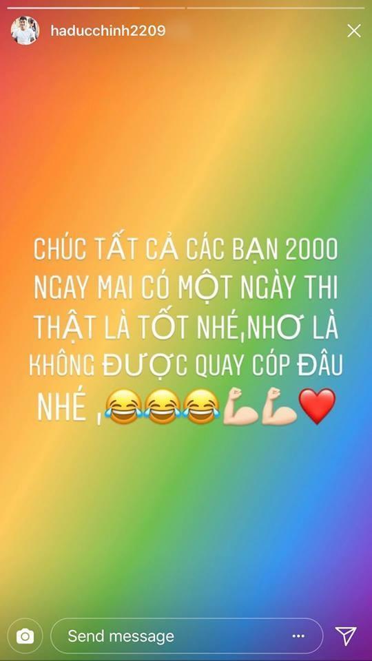 Cầu thủ Hà Đức Chinh nhắn nhủ thí sinh không được quay cop trong phòng thi.