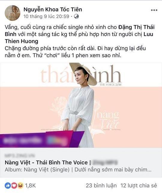 """Từ """"chiến binh"""" cuối cùng của team Tóc Tiên tại Giọng hát Việt 2018."""
