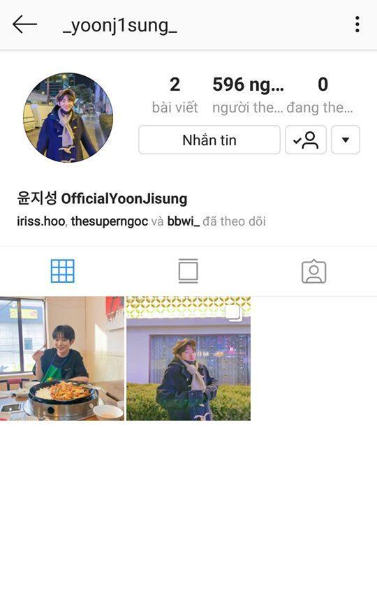 Tài khoản Instagram của Jisung