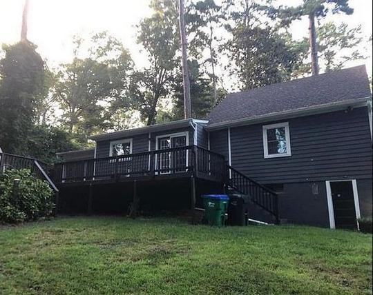 Ngôi nhà nơi cô Fairman bị sát hại.