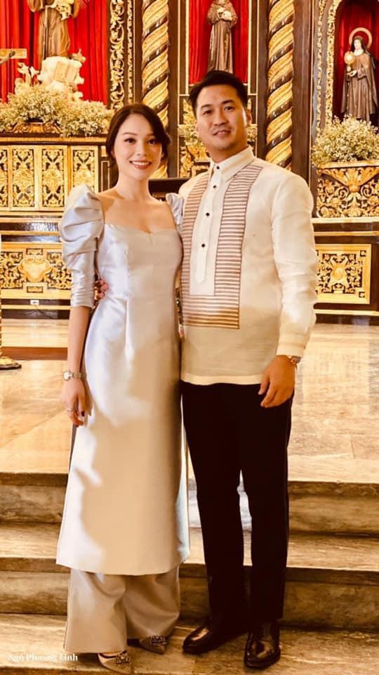 Cặp đôi cùng nhau xuất hiện trong đám cưới chị ruột của chàng thiếu gia.