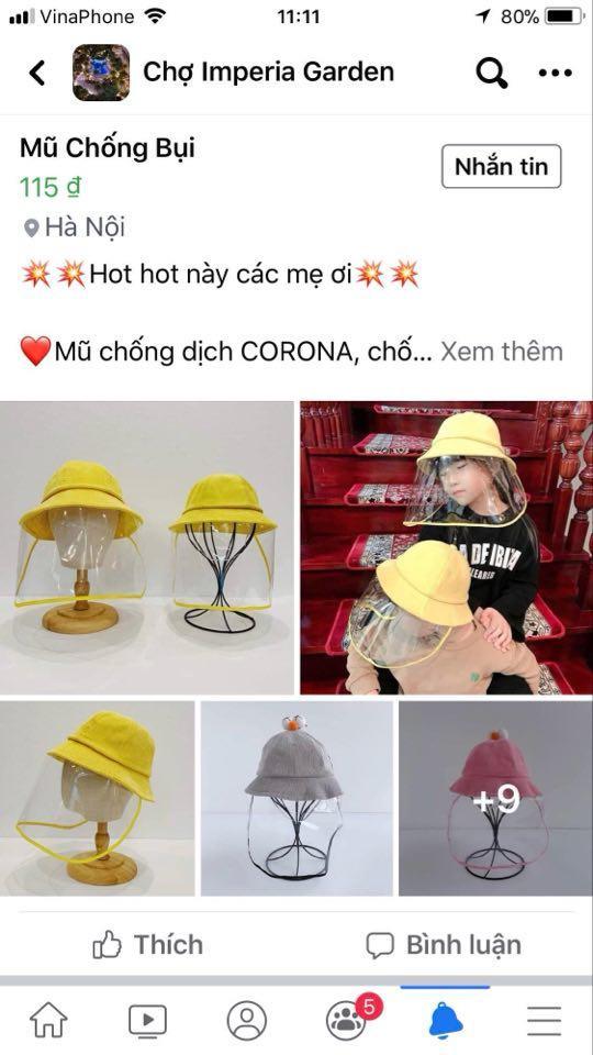 Hiện tại, kiểu nón này đang được bán rất nhiều trên các trang mạng online…