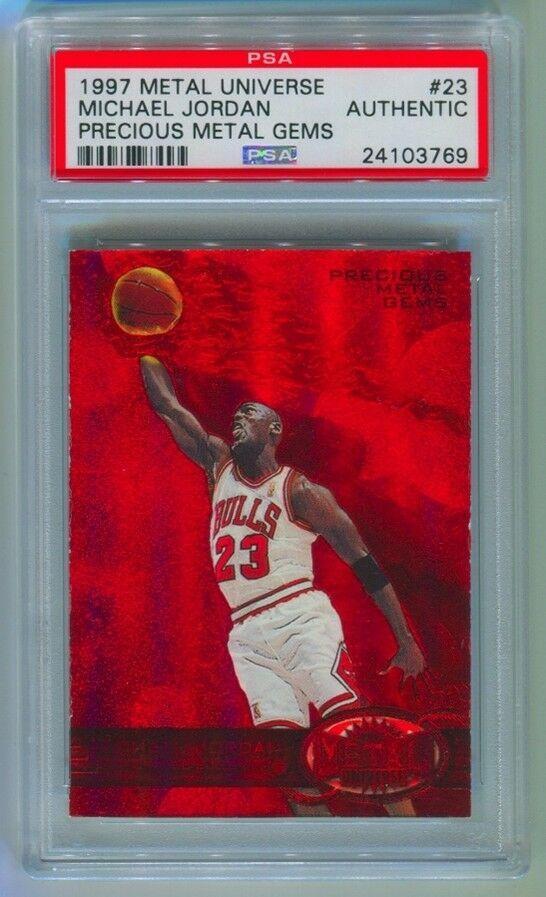 Thẻ bài Michael Jordan Precious Metal Gems (1997): Thẻ bài Michael Jordan Precious Metal Gems (1997) được bán trên eBay năm nay với giá 350.100 USD. Theo nguồn tin của CNBC, điều khiến tấm thẻ này trở nên đắt giá nằm ở việc chỉ có duy nhất 10 tấm thẻ từng được bán ra. (Ảnh: eBay)