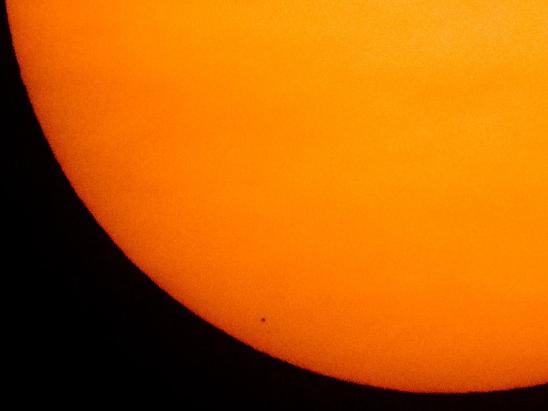 Sao Thủy đi ngang qua Mặt trời vào năm 2019.