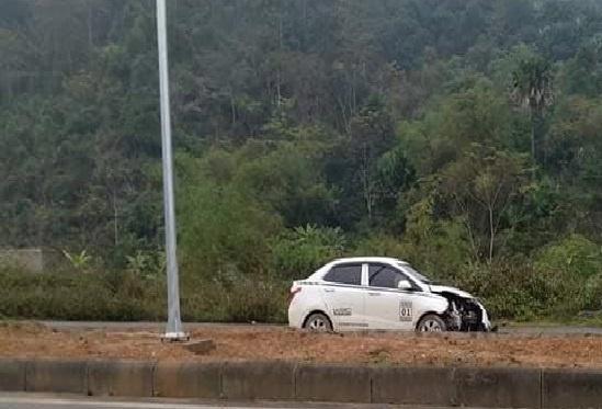 Chiếc xe ô tô gây tai nạn.