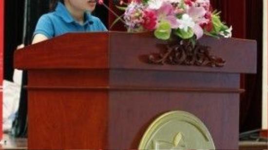 Em Bùi Thị Hậu - mái ấm Thiên Ân đại diện 2.000 người khuyết tật, trẻ em mồ côi gửi lời cảm ơn đến các nhà hảo tâm.