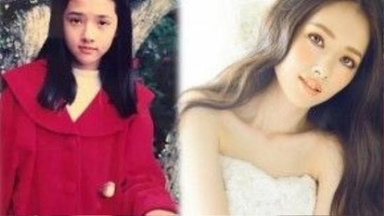 Quách Bích Đình với gương mặt lai đẹp từ khi còn là cô bé.