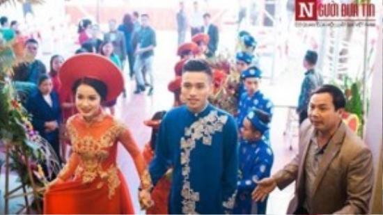 Chú rể Phan Bảo Chung và cô dâu Nguyễn Thị Mai Liên - 2 nhân vật chính của tiệc cưới