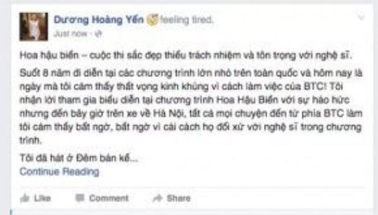 Dương Hoàng Yến bức xúc tố BTC Hoa hậu Biển Việt Namthiếu chuyên nghiệp.