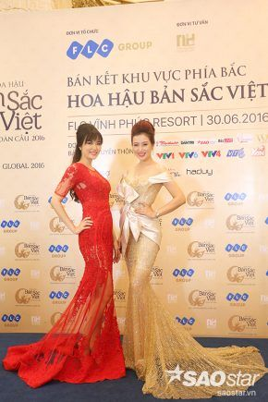 Hoa hậu Thu Thủy đọ dáng cùng quý bà Thu Hương.