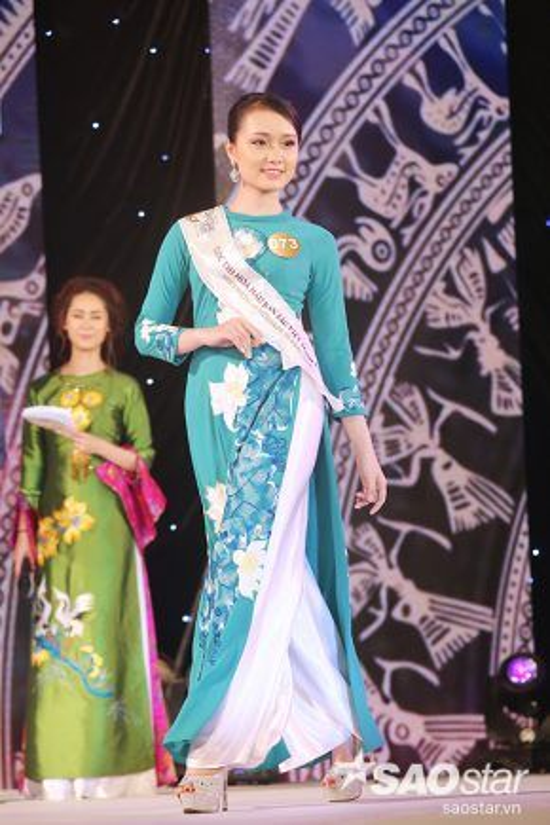 Vóc dáng thanh xuân của thí sinh Bùi Thị Thu Trang.